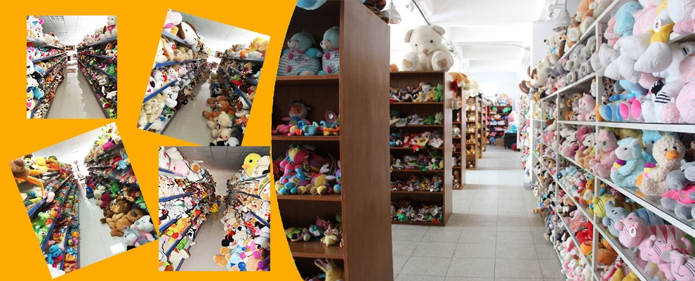 showroom of plush toy manufacturer