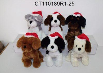 Christmas Stuffed Dogs