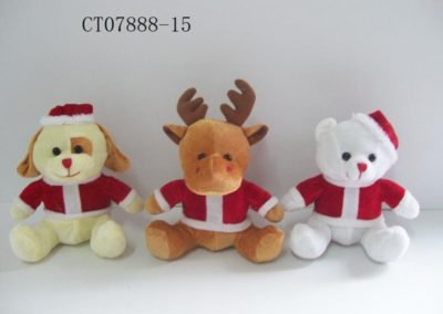 Stuffed Animals In Christmas Costumes